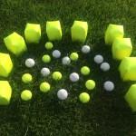 Nieuwe kaatsballen en proppen